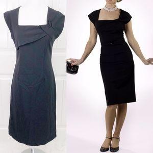 Bettie Page Tatyana Ella Black Pinup Pencil Dress